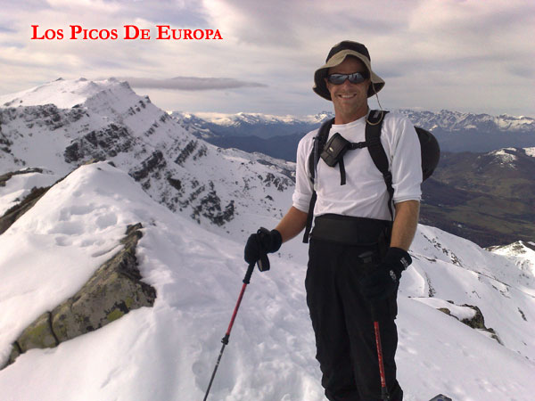 Justin ski mountaineering in Spain